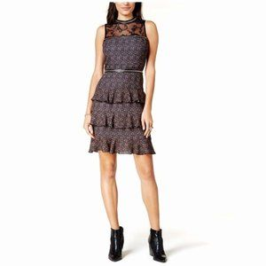 Glam by Glamorous Lace Yoke Floral Tiered Dress